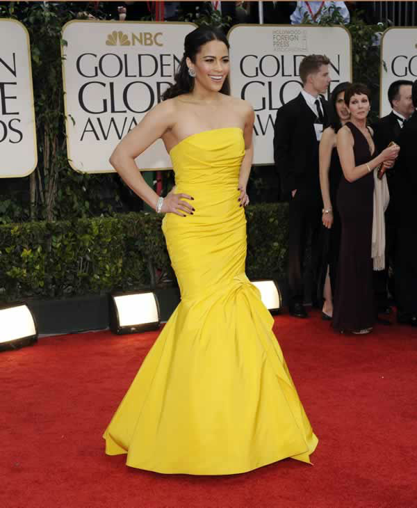 Paula Patton the 69th Annual Golden Globe Awards Sunday, Jan. 15, 2012, in Los Angeles. (AP Photo/Chris Pizzello)