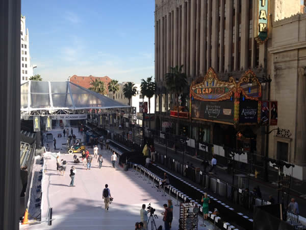 Here&#39;s a behind the scenes look at the preparations for the 84th Academy Awards! <span class=meta>(Rosendo Pena&#47;KGO)</span>