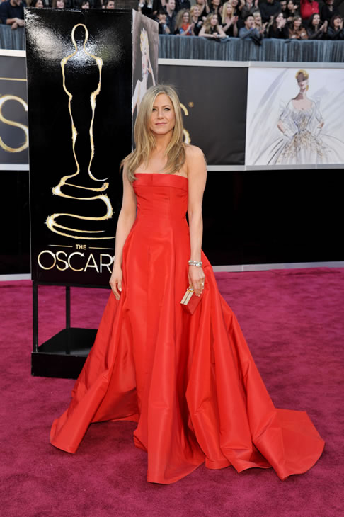 "<div class=""meta ""><span class=""caption-text "">Actress Jennifer Aniston arrives at the Oscars at the Dolby Theatre on Sunday Feb. 24, 2013, in Los Angeles. (Photo by John Shearer/Invision/AP)</span></div>"