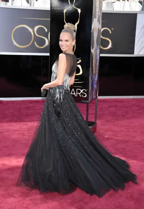 Actress Kristin Chenoweth arrives at the 85th Academy Awards at the Dolby Theatre on Sunday Feb. 24, 2013, in Los Angeles. (Photo by John Shearer/Invision/AP)