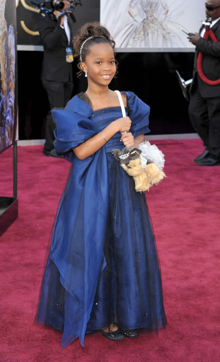 Quvenzhane Wallis on the red carpet