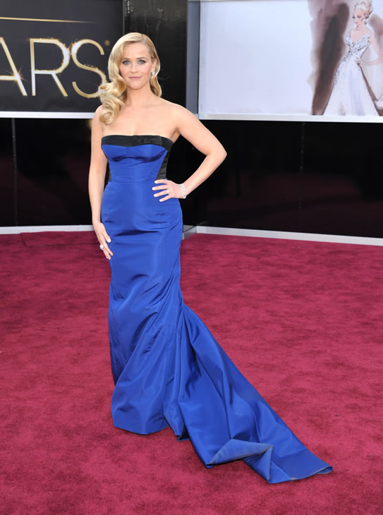 "<div class=""meta ""><span class=""caption-text "">Reese Witherspoon arrives at the 85th Academy Awards at the Dolby Theatre on Sunday Feb. 24, 2013, in Los Angeles. (Photo by John Shearer/Invision/AP)</span></div>"