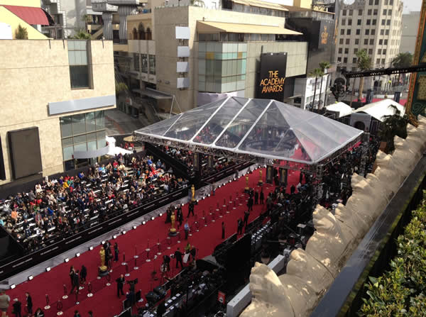 "<div class=""meta image-caption""><div class=""origin-logo origin-image ""><span></span></div><span class=""caption-text"">Here is a photo of the outside of the Hollywood and Highland Center in Los Angeles taken on Sunday before the 84th Academy Awards. (Rosendo Pena/KGO)</span></div>"