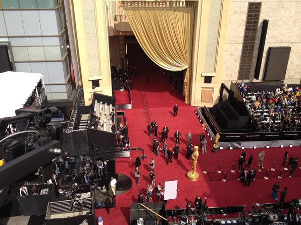 Here is a photo of the outside of the Hollywood and Highland Center in Los Angeles taken on Sunday before the 84th Academy Awards. <span class=meta>(Rosendo Pena&#47;KGO)</span>