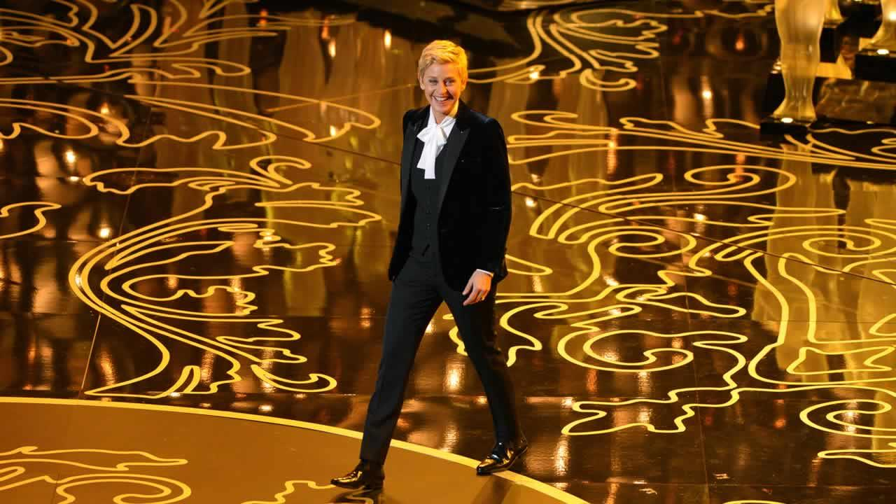 Ellen DeGeneres hosts the Oscars at the Dolby Theatre on Sunday, March 2, 2014, in Los Angeles.