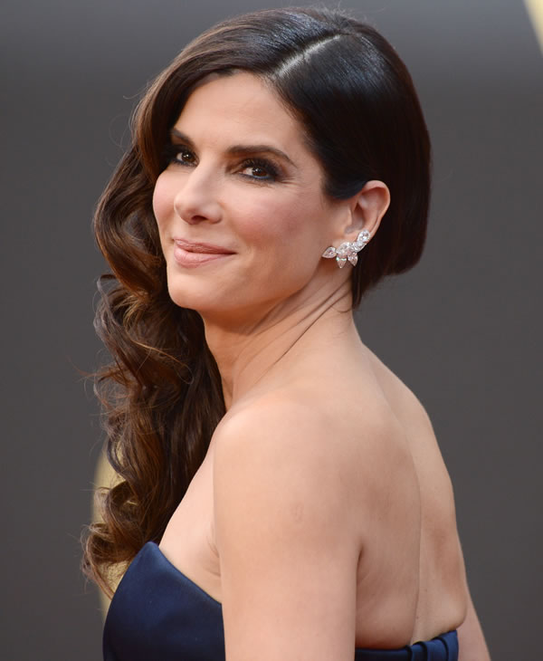 Sandra Bullock arrives at the Oscars.
