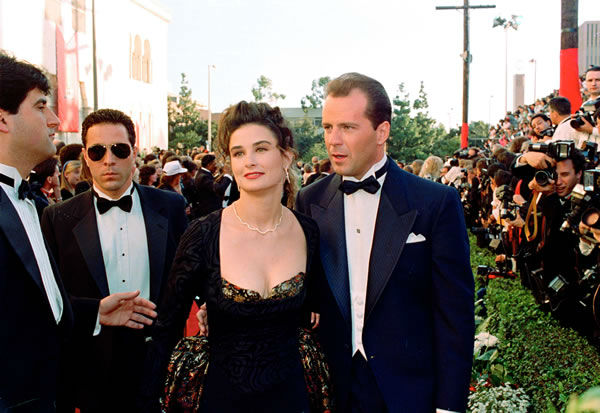 Worst #3: Demi Moore in her own design at the 1989 Academy Awards. <span class=meta>(AP Photo)</span>