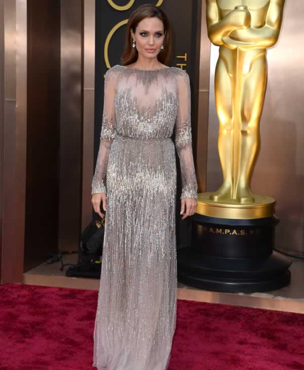 Angelina Jolie arrives at the Oscars.