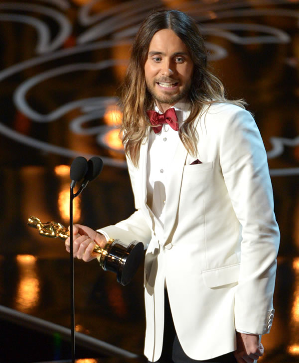 "<div class=""meta image-caption""><div class=""origin-logo origin-image ""><span></span></div><span class=""caption-text"">Jared Leto accepts the award for best actor in a supporting role for ""Dallas Buyers Club"" during the Oscars at the Dolby Theatre on Sunday, March 2, 2014, in Los Angeles. (Photo by John Shearer/Invision/AP)</span></div>"