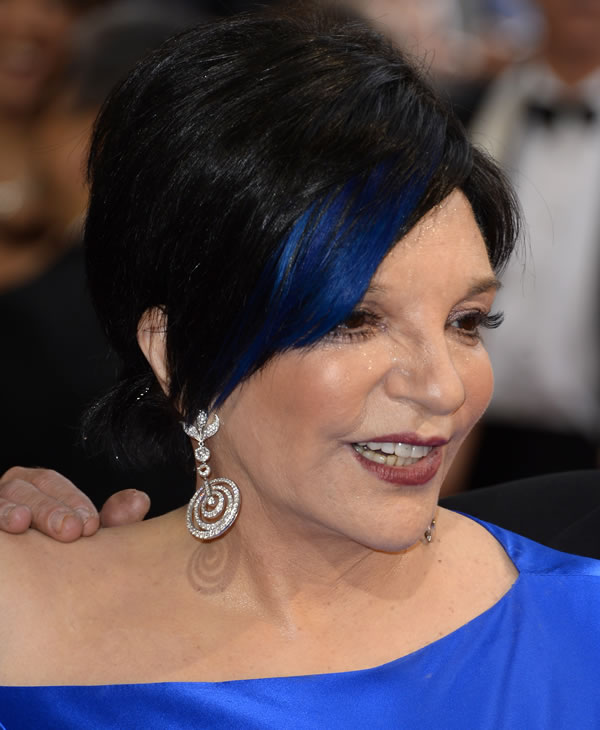 Liza Minnelli arrives at the Oscars on Sunday, March 2, 2014, at the Dolby Theatre in Los Angeles. (Photo by Dan Steinberg/Invision/AP)