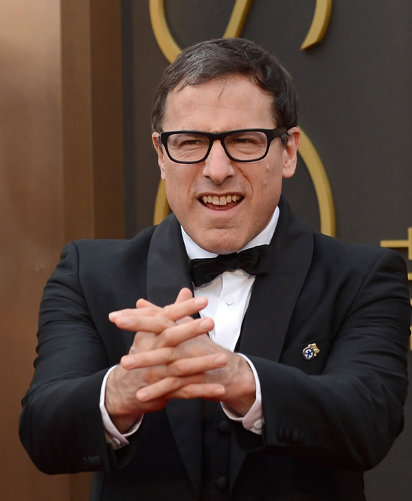 David O. Russell arrives at the Oscars.