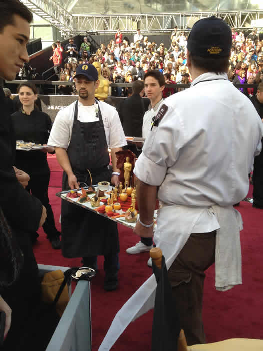 Governors Ball Food on the red carpet of the 84th Academy Awards. <span class=meta>(@7LiveLos)</span>