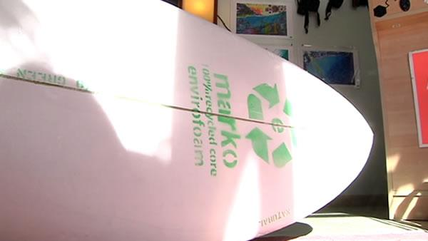 Surfers test cost-effective way to recycle styrofoam