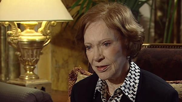 Rosalynn Carter visits SF to talk about mental health