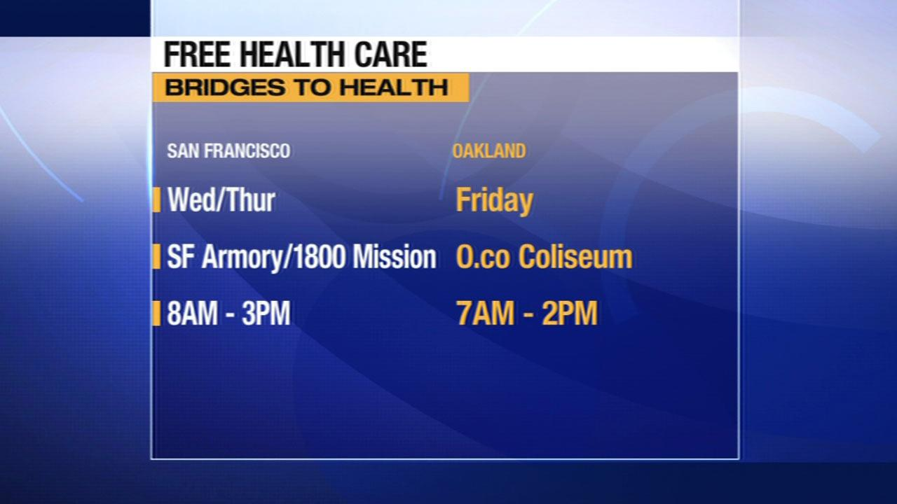 Health care clinic times in the Bay Area.
