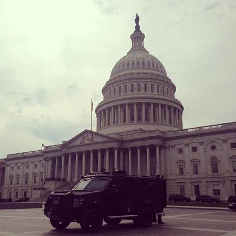 "<div class=""meta ""><span class=""caption-text "">""Lockdown at Capitol lifted but heavy security presence.""  (Matt Laslo)</span></div>"