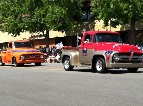 Fourth of July parade in Fremont
