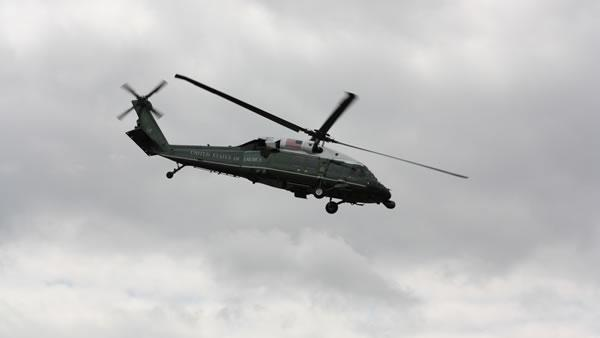 Marine One leaving Fremont.
