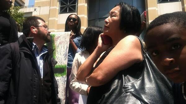 Oakland Mayor Jean Quan attends a rally for Trayvon Martin on Saturday, July 20, 2013.
