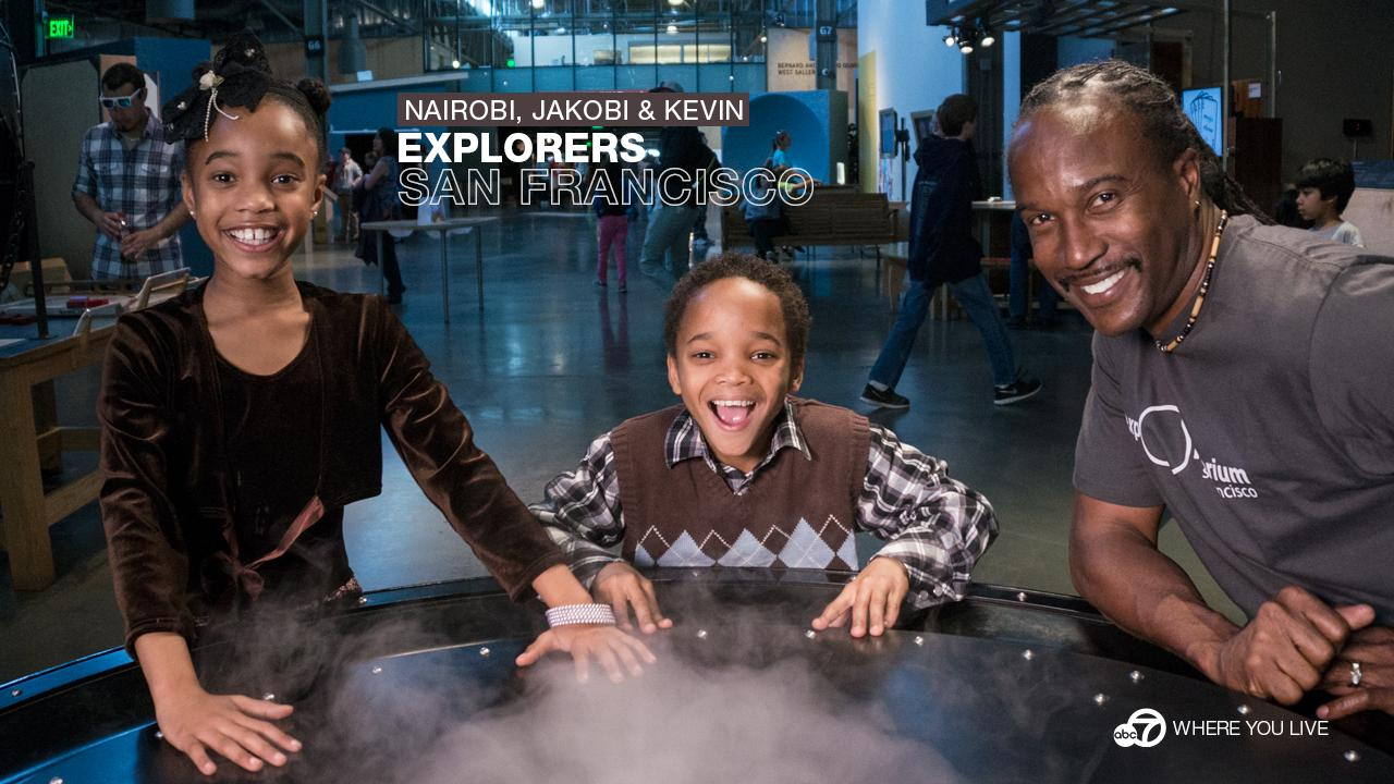 Twins Nairobi and Jakobi (along with dad Kevin) love to explore...and what better place to satisfy curious minds than the Exploratorium?!