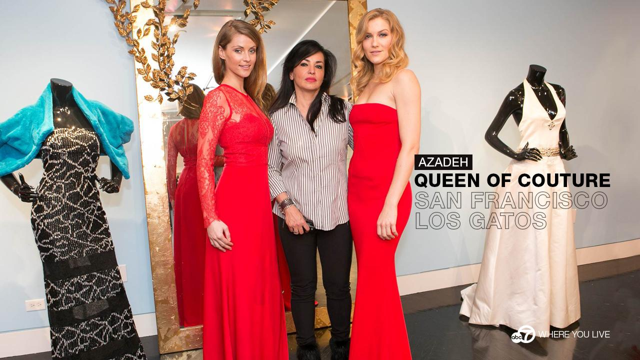 Azadeh is Bay Area fashion royalty; in fact her designs are literally fit for a queen.