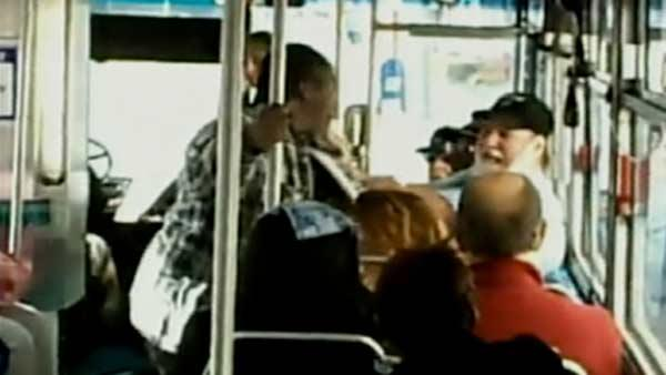 RAW VIDEO: AC Transit bus fight