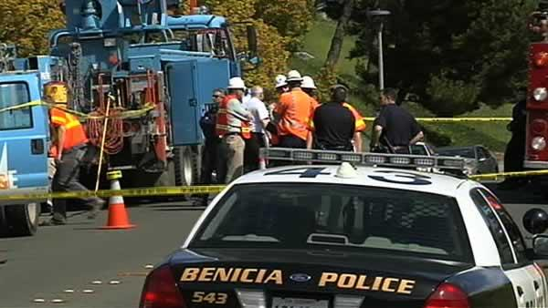 PG&E worker electrocuted in Benicia