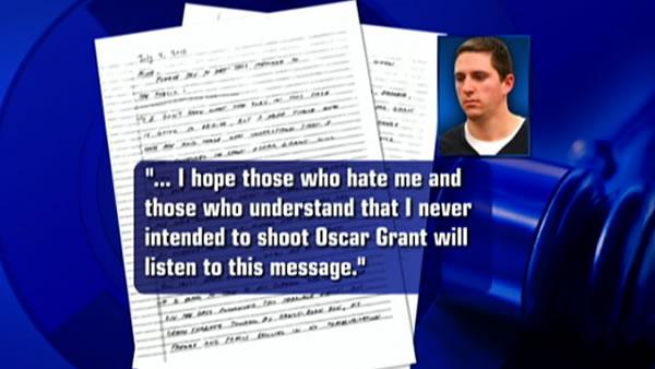 Mehserle apologizes for shooting in letter