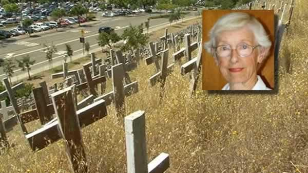 Woman behind Lafayette crosses memorial dies