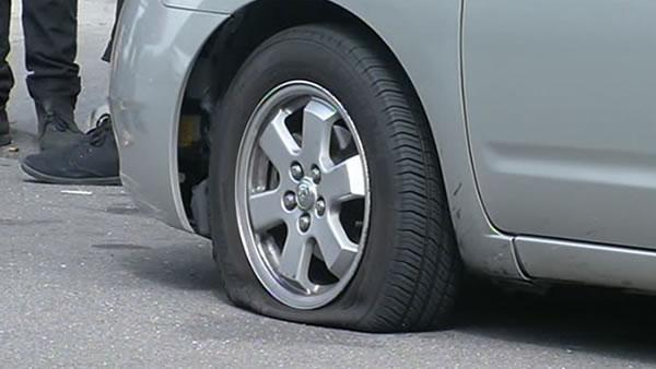 50 cars have tires slashed in vandalism spree