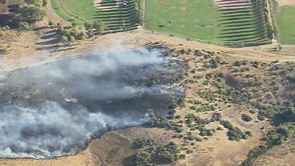 Grass fire in Benicia
