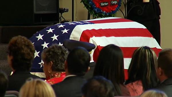 Memorial held in Danville for fallen Marine