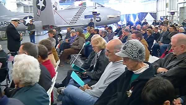Pearl Harbor survivors gather at USS Hornet museum