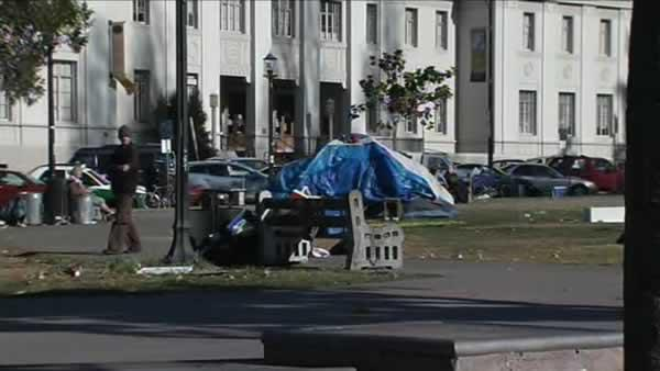 Some tents linger after Occupy eviction