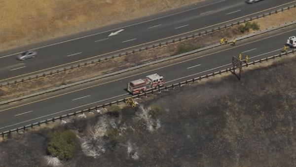 Martinez brush fire snarls Highway 4 traffic