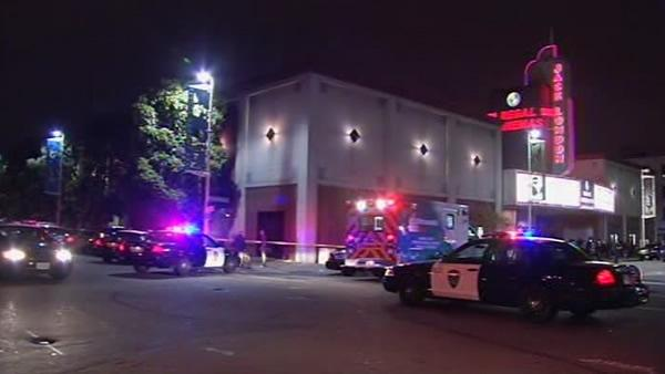 Five people shot outside Oakland movie theater