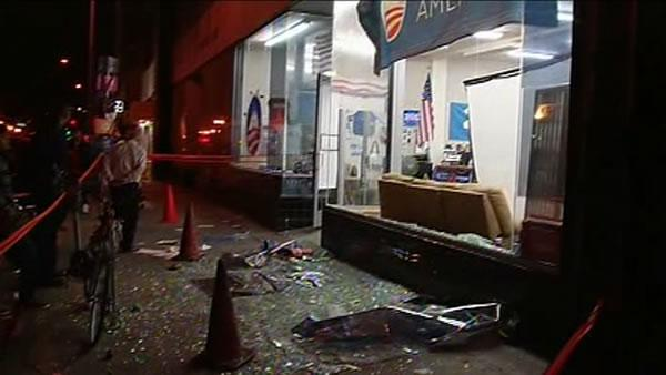 Obama campaign office window smashed during protest