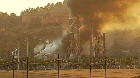 Chevron refinery fire in Richmond.