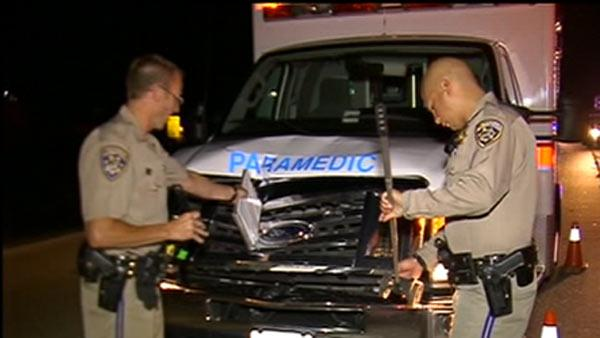 Man fatally struck by ambulance on Hwy 4