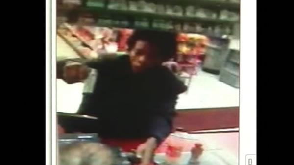 Armed robbery suspect caught on security camera