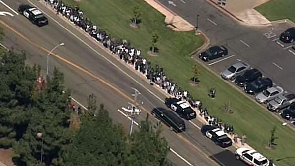 Procession for CHP Officer Kenyon Youngstrom