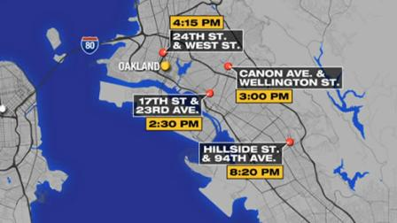 4 Oakland shootings