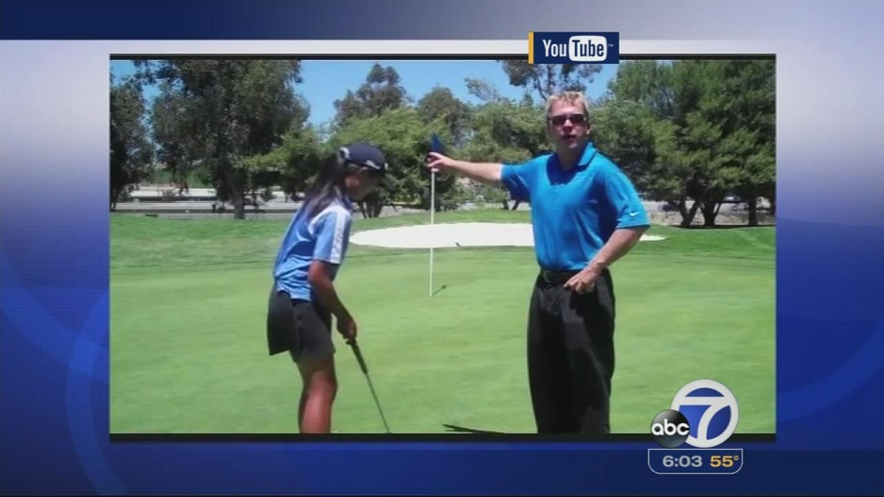 YouTube video of Livermore golf pro Michael Nisbet