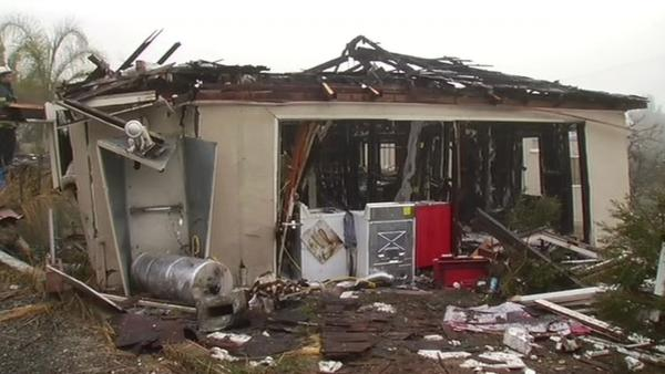 Man survives fiery explosion at Hayward home