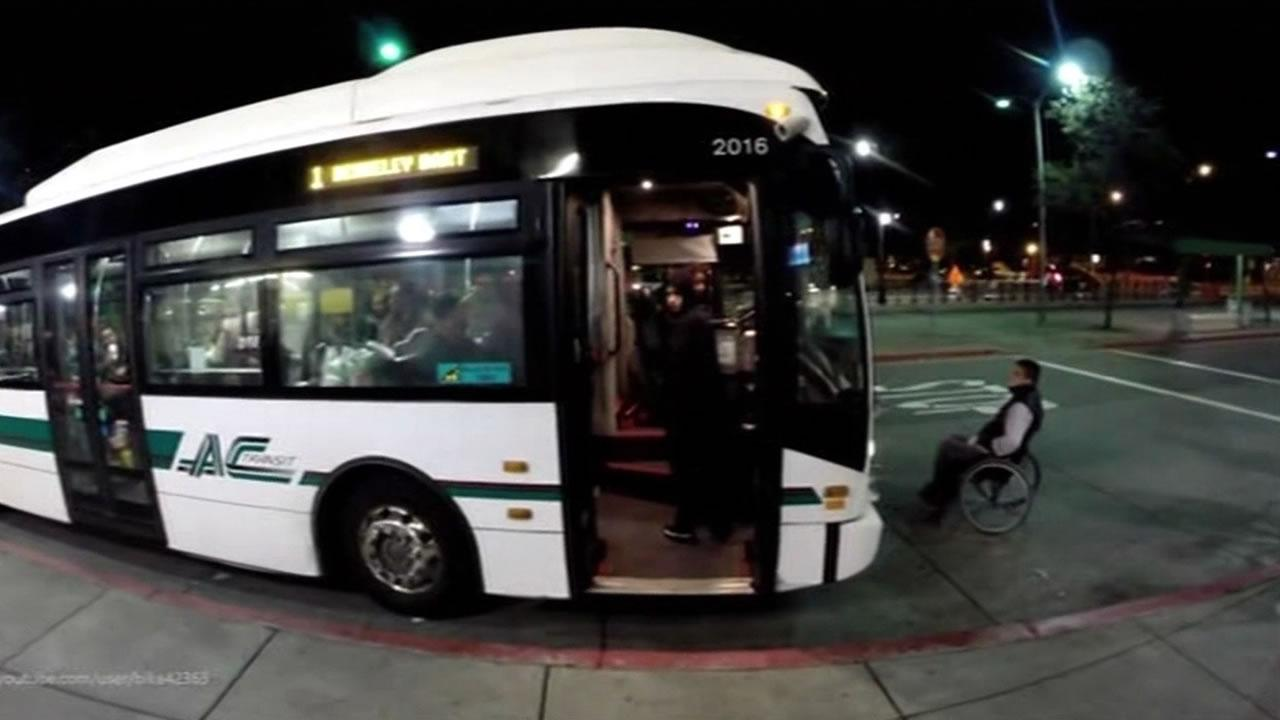 AC Transit is investigating an incident that occurred last Friday night when a  passenger in a wheelchair was denied access to a bus.