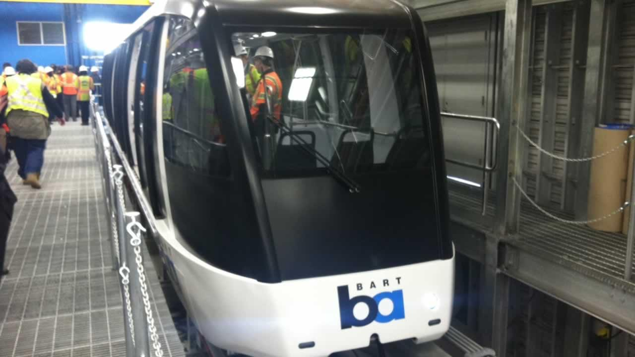 New BART airport connector car.