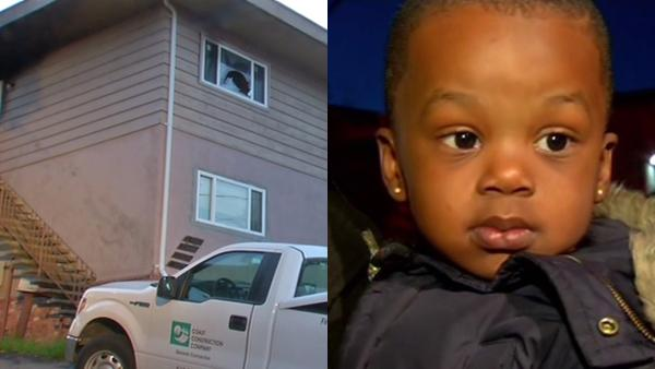 Young boy thrown to safety from Hayward fire