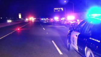 The CHP is investigating after a pedestrian was fatally struck by an SUV on northbound Highway 880 in Fremont on Saturday