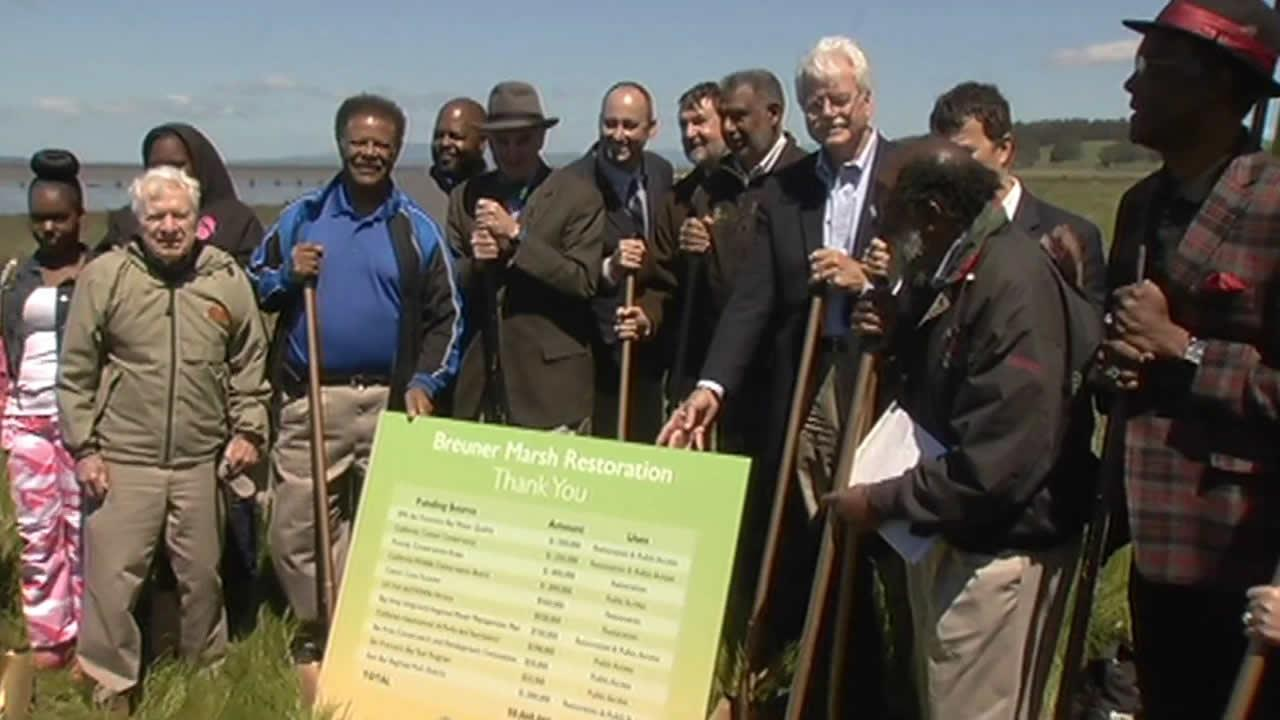 Groundbreaking on new wetland restoration project