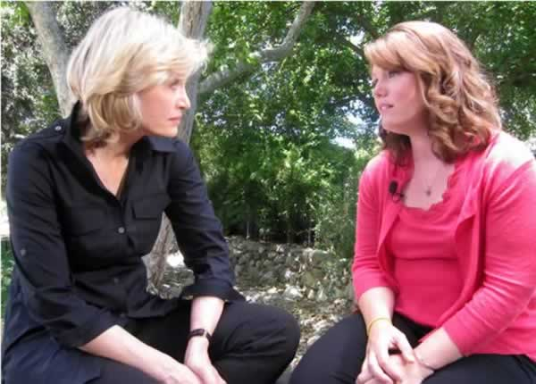 "In this July 1, 2011 photo released by ABC, ABC News' Diane Sawyer, left, speaks with Jaycee Dugard in Ojai, Calif., during her first interview since being kidnapped near her California home in 1991, when she was 11.  Dugard wrote a memoir, titled ""A Stolen Life,"" which recounts her ordeal in detail. The exclusive interview airs Sunday, July 10 at 9:00 p.m. on ABC. (AP Photo/ABC News)"